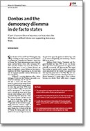Donbas and the democracy dilemma in de facto states